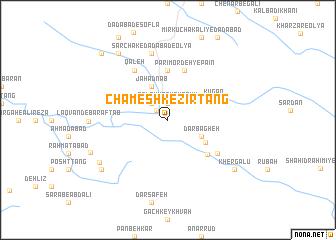 map of Chameshk-e Zīr Tang