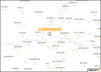 map of Chammīshko