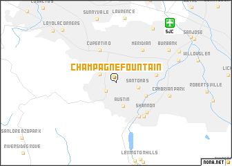 map of Champagne Fountain