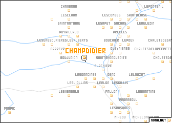map of Champ-Didier