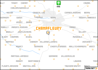 map of Champfleury
