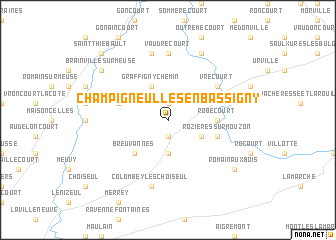 map of Champigneulles-en-Bassigny