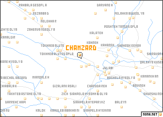 map of Cham Zard