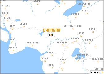 Changan (China) map   nona.net