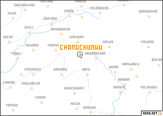 map of Changchunwu