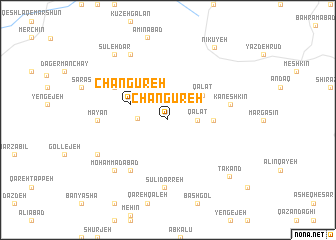 map of Changūreh