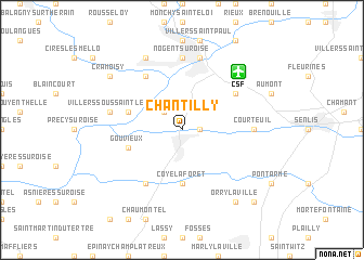 Chantilly (France) map   nona.net