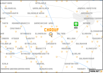 map of Chaouf