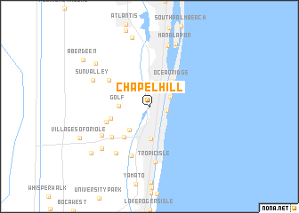map of Chapel Hill