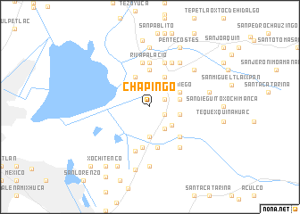 map of Chapingo