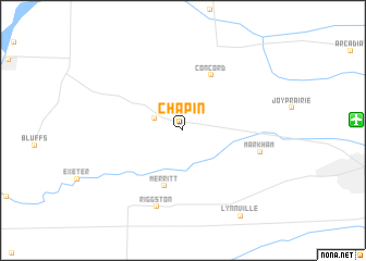 map of Chapin