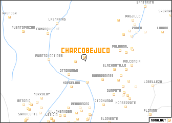 map of Charco Bejuco
