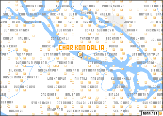 map of Char Kondalia