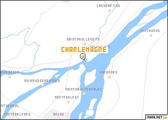Charlemagne Canada Map Charlemagne (Canada) map   nona.net