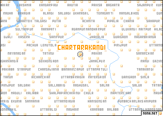 map of Char Tārākāndi