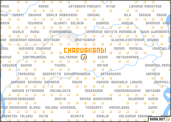 map of Chārua Kāndi