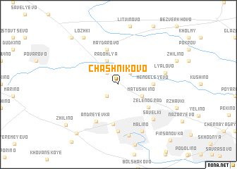 map of Chashnikovo