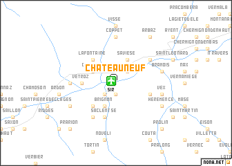 map of Châteauneuf