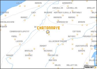 map of Châtonnaye