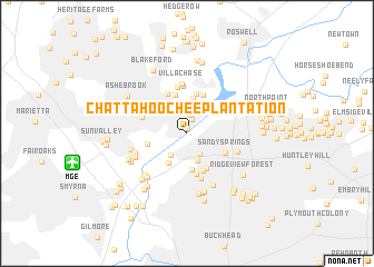map of Chattahoochee Plantation