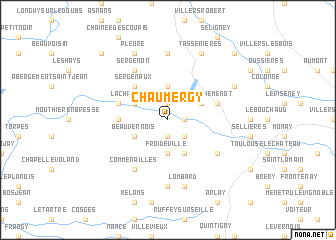 map of Chaumergy
