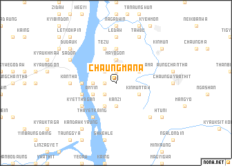 map of Chaungmana