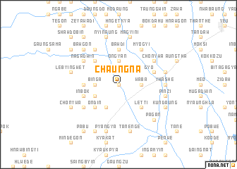 map of Chaungna