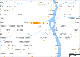 map of Chaungtha