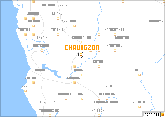 map of Chaungzon