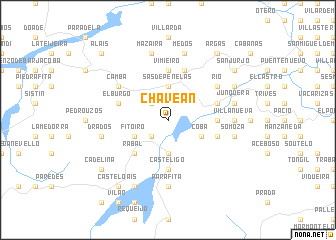 map of Chaveán