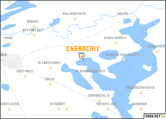 map of Chebachiy