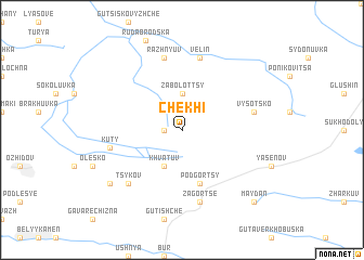 map of Chekhi