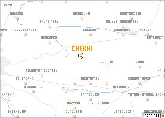 map of Chekhi