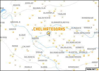map of Chelihat ed Dahs