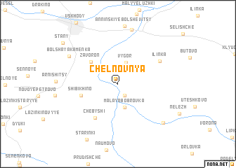 map of Chelnovnya
