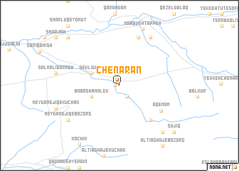 map of Chenārān