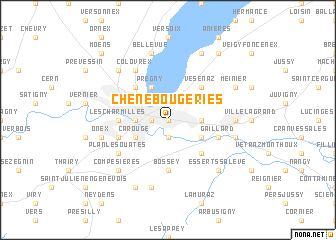 map of Chêne-Bougeries