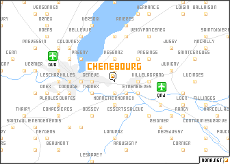 map of Chêne-Bourg
