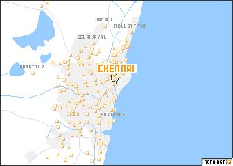 Chennai (India) map - nona.net on