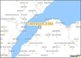 map of Chens-sur-Léman