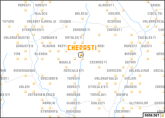 map of Cherăşti