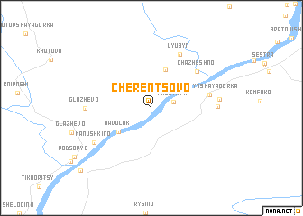 map of Cherentsovo