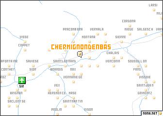 map of Chermignon-d'en Bas