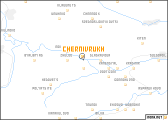 map of Cherni Vrŭkh