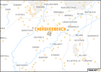 map of Cherokee Beach