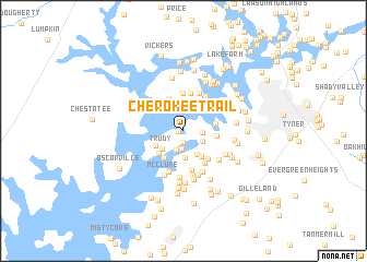 map of Cherokee Trail