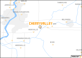 map of Cherry Valley