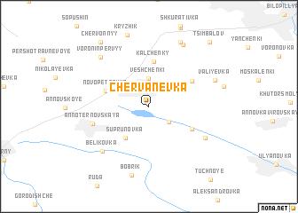 map of Chervanevka