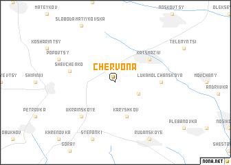 map of Chervona