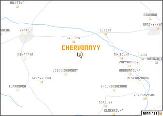 map of Chervonnyy